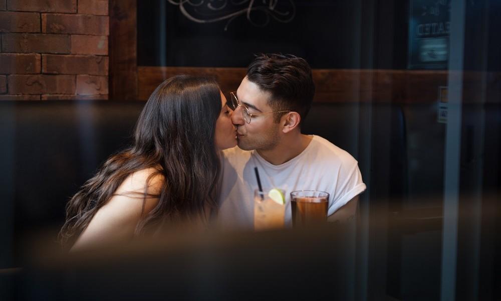She steals a kiss, the boy has won her heart